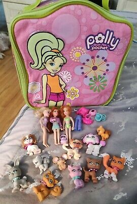 £6.99 • Buy Polly Pocket Bag And Figures And Animals