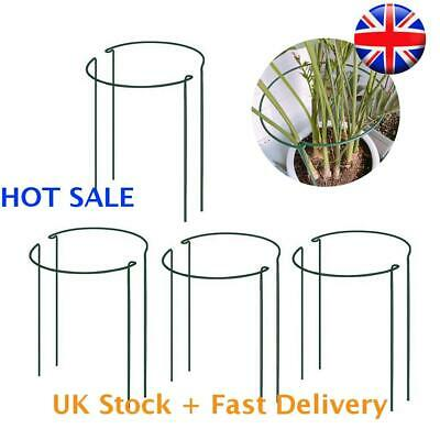 £11.89 • Buy 8X Metal Plant Supports Stake Half Round Garden Plant Support , Green Set HOT