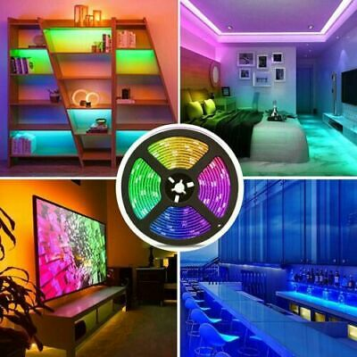 $9.99 • Buy 16.4FT Led Strip Lights 5050 RGB Bluetooth Room Light Color Changing With Remote