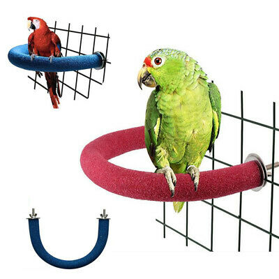 £6.89 • Buy U-shaped Parrot Frosted Station Toy Pet Bird Play Exercise Perch Stand Cage