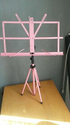 £4.50 • Buy MightyKing Foldable Sheet Music Tripod Stand With Water-Resistant Bag - Pink