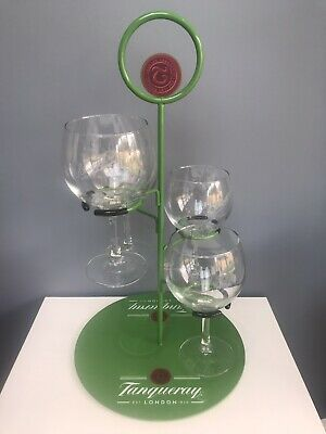 £60 • Buy Tanqueray Gin Tree Holder Home Bar Brand New Cocktail Holder With 4 Gin Glasses