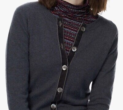 £120 • Buy Brora 100% Cashmere Limited Edition Buttoned Cardigan With Pockets UK 14 Large