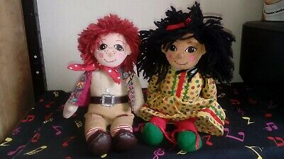 """£40 • Buy Vintage Rosie And Jim 10"""" Rag Dolls Plush Beanie Soft Toys 1999 Rare Collectible"""