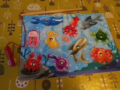 £3 • Buy Melissa And Doug Wooden Magnetic Fishing Game Puzzle