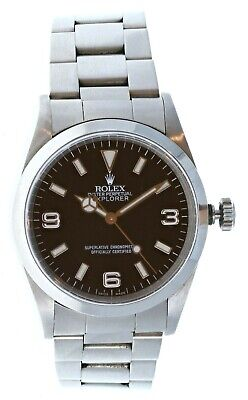 $ CDN9529.64 • Buy Rolex Explorer I 14270 Stainless Steel With Papers
