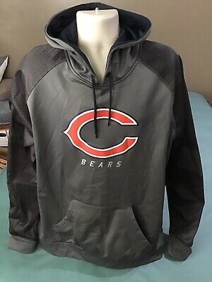 $21.95 • Buy Majestic Thermabase Chicago Bears Soft Shell Hoodie Men-2xl-2xg. Euc