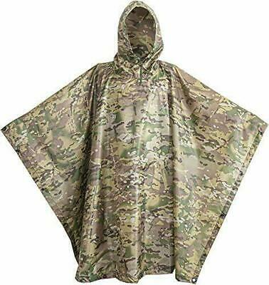 $60 • Buy USGI Industries Military Poncho Emergency Tent Shelter Multi Use Rip Stop Cam...