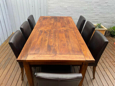 AU300 • Buy Freedom Timber Dining Table / Also Part Of Complete 'Brittany Furniture Set.'