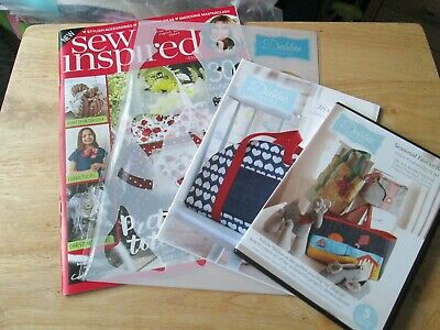 £5 • Buy New Issue 5 Sew Inspired Magazine By Debbie Shore + CD ROM + Pattern + Stencil