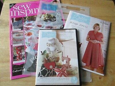 £5 • Buy New Issue 4 Sew Inspired Magazine By Debbie Shore + CD ROM + Pattern + Stencil