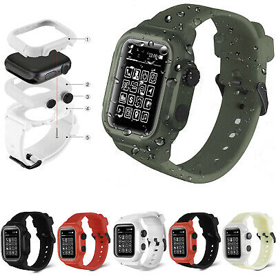 $18.95 • Buy Waterproof Rugged Strap & Case For Apple Watch Series 4/5/6/SE 44mm IWatch Band