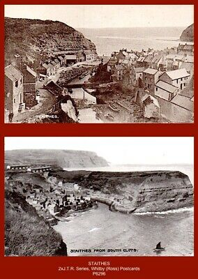 £5.90 • Buy  STAITHES   (near Whitby) 2x Early J.T.R. Series Postcards (Ross, Whitby)