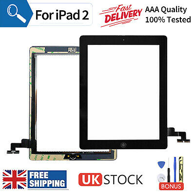 £9.99 • Buy Black For IPad 2 A1395 A1396 A1397 Screen Replacement Touch Digitizer+Genuine IC