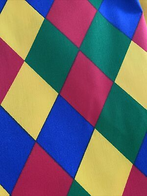 £2.40 • Buy Strong Poly Cotton Twill Fabric Harlequin Print Two Metres Perfect For Aprons
