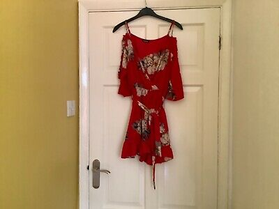 £3 • Buy Boohoo Size 12 Red Jump Suit, All In One Shorts