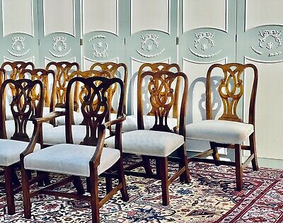 $3999 • Buy Set Of (12) BAKER Furniture Co. Mahogany Dining Room Chairs