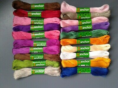 £2.50 • Buy 20 X Coats Anchor Coton A Broder Cotton Thread 30m Unused