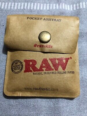 £1.49 • Buy RAW Rolling Papers Pocket Ashtray For Cigarettes Flexible Portable Travel Pouch
