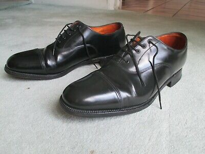 £24.99 • Buy Ely By Sanders Black Leather Officers Style Oxford Lace Up Shoes Size 9 -  9.5