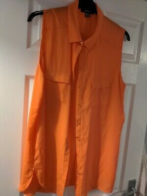 £0.99 • Buy Primark Bright Coral Sleeveless Blouse Size 20