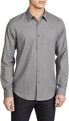 $19.99 • Buy Theory Mens Bridge Shirt Gray Size Large L Irving Flannel Button Down $225 052