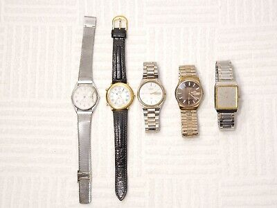$ CDN1.25 • Buy Lot Of 5 Seiko Men Watches Two Tone Vintage Casual Dress Stainless Steel Leather