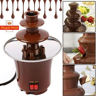£15.98 • Buy 3 Tier S/S Steel Electric Chocolate Warmer Dip Fountain Party Fondue Melting Pot