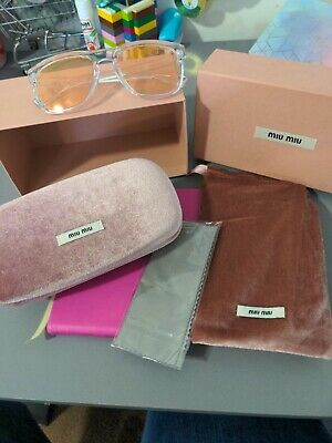 £10 • Buy Pepe Jeans Clear Lens Sunglasses With Miu Miu Case And Accessories, Brand New