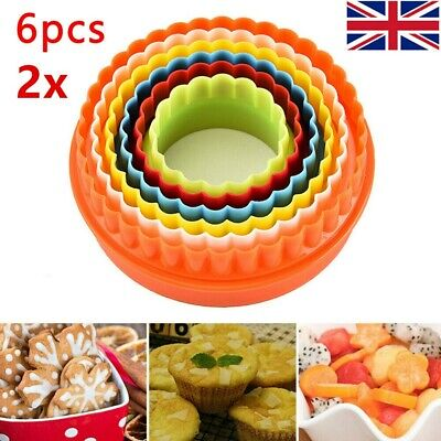 £1 • Buy 2pcs 6 Pack Cookie Scone Cutters Twin Edge Crinkle Round Cake Pastry Bake Mold