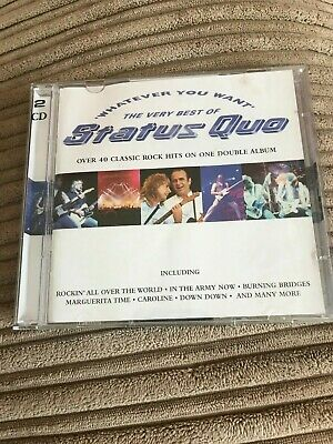 £3 • Buy Whatever You Want -  The Very Best Of Status Quo- 2 CD