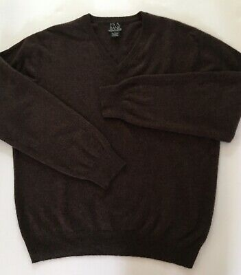 $20 • Buy Gorgeous Joseph A Bank 100% Cashmere Sweater V Neck Large Brown