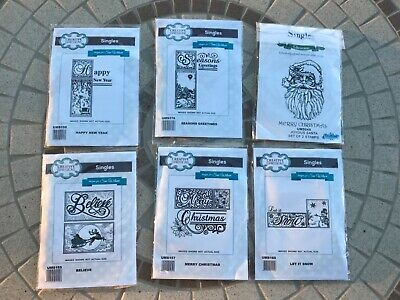 £4.75 • Buy Bundle! Creative Expressions: 6 X Christmas Themed Rubber Stamp (new)