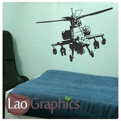 $25.01 • Buy Helicopter Wall Stickers Transfer Decal Boys Bedroom Vinyl Apache Army Graphic