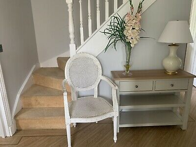 £150 • Buy Large French Louis Style Chair In Cream Shabby Chic