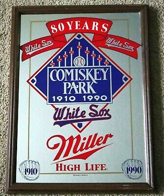$150 • Buy Vintage Comiskey Park Chicago White Sox 1910-1990 Miller High Life Beer Mirror