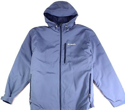 $25.99 • Buy Columbia Mens Jacket Blue Size 2XL Gate Racer Softshell Hooded Zip $150 168