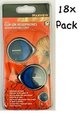 £25 • Buy Maxview H85014, Clip-On Headphones With Retractable Cable, (18x Units)