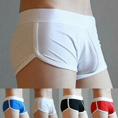 £4.78 • Buy Loose Fit Boxer Briefs Homewear Underwear Low Rise Mens Rich Funky Shorts Solid