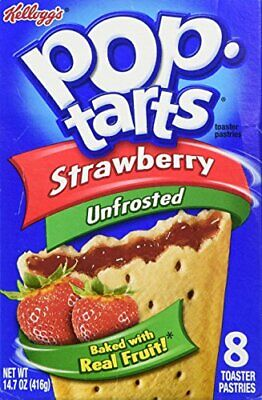 £8.95 • Buy Pop-Tarts  Unfrosted Strawberry Toaster Pastries 416g Pop Tarts