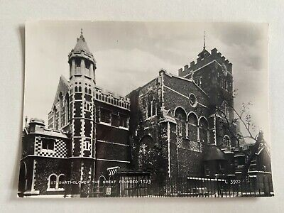 £0.69 • Buy St Bartholomew The Great Founded 1123 London Real Photo Valentine's Postcard