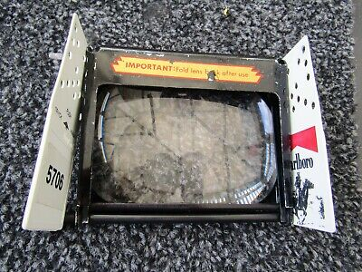£5.99 • Buy Vintage Tabletop Magnifying Glass With Marlboro Visors ?