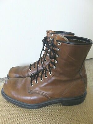 $42.99 • Buy Mens Red Wing 953 Boots Sz 9 B Brown Leather UNION MADE Distressed Read