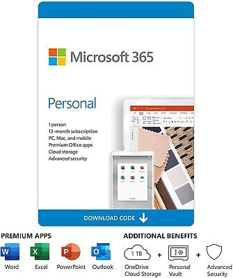 AU97 • Buy Microsoft Office 365 Personal 1-year Subscription Licence For 1 Device