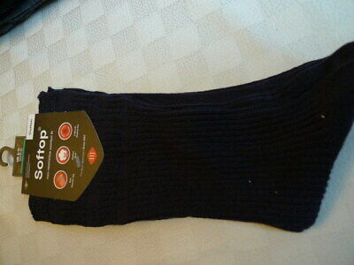 £3 • Buy Pair Of Navy HJ Hall Cotton Soft Top Socks - Size 6-11