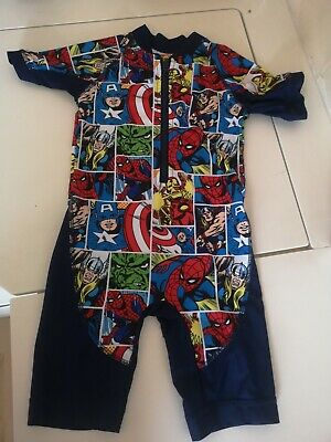 £3 • Buy Boys Matalan Avengers All In One Swimsuit Age 2-3