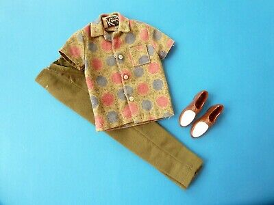 $ CDN38.99 • Buy Vintage Ken Green Slacks, Shirt And Shoes From 1960's