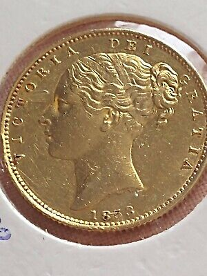 £470 • Buy 1853 Full Sovereign Gold Coin Queen Victoria Shield S Back
