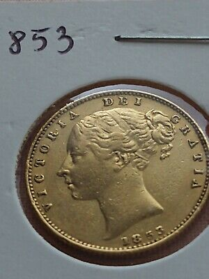 £470 • Buy 1853 Full Sovereign Gold Coin Queen Victoria Shield
