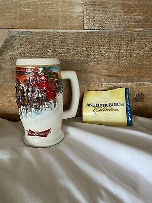 $ CDN69 • Buy Budweiser Holiday Beer Stein 2006 Sunset At The Stables Collectible